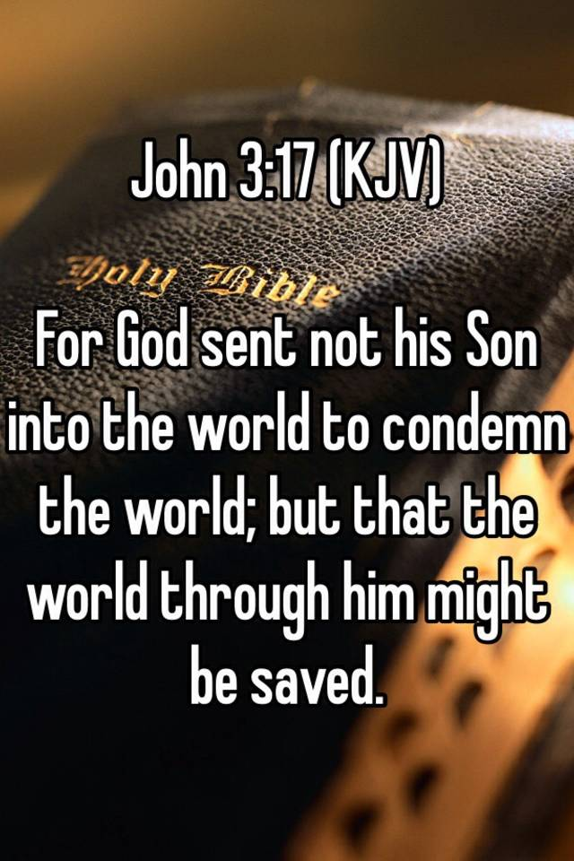 Image result for John 3:17 kjv