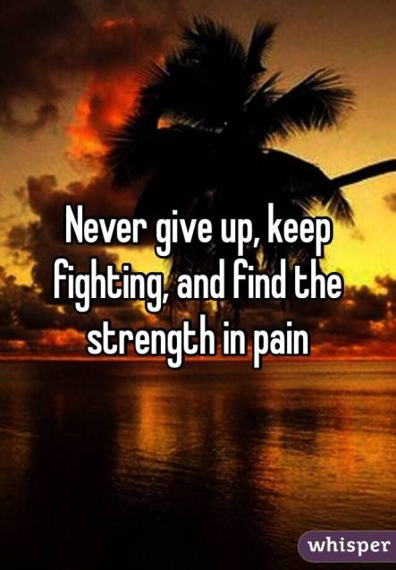 Image result for keep fighting never give up