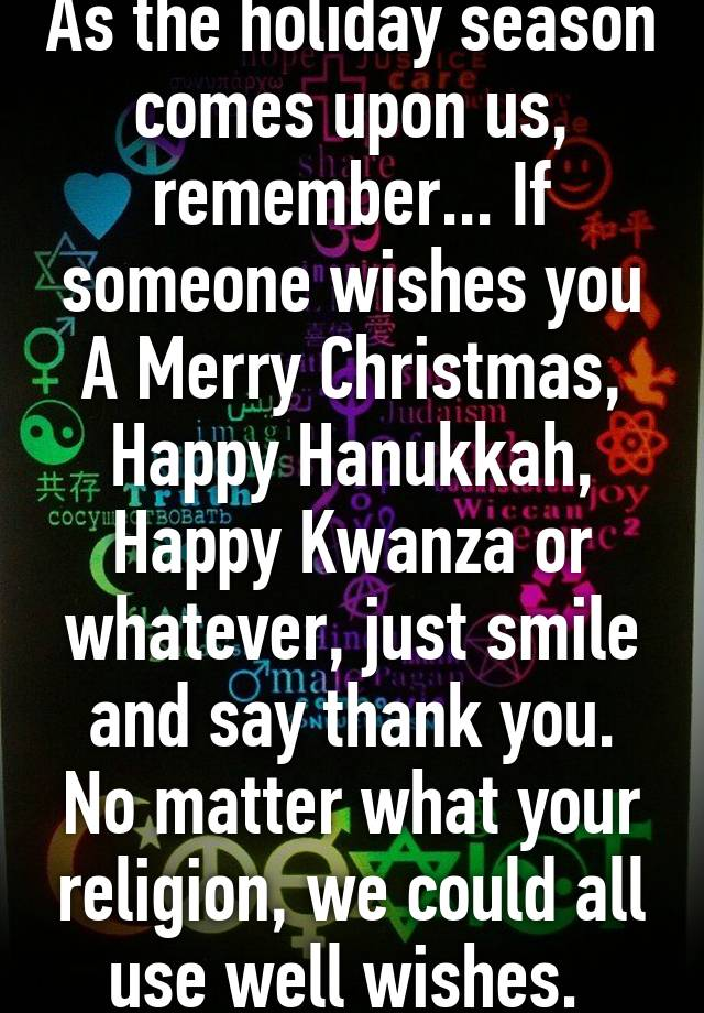 As The Holiday Season Comes Upon Us Remember If