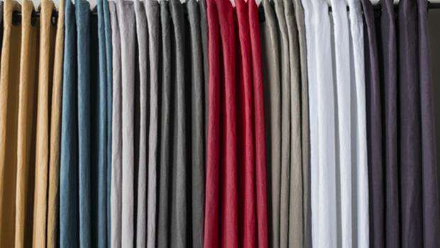 rideaux en lin lave haut de gamme