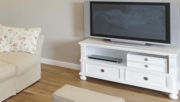 special meubles tv en blanc naturel