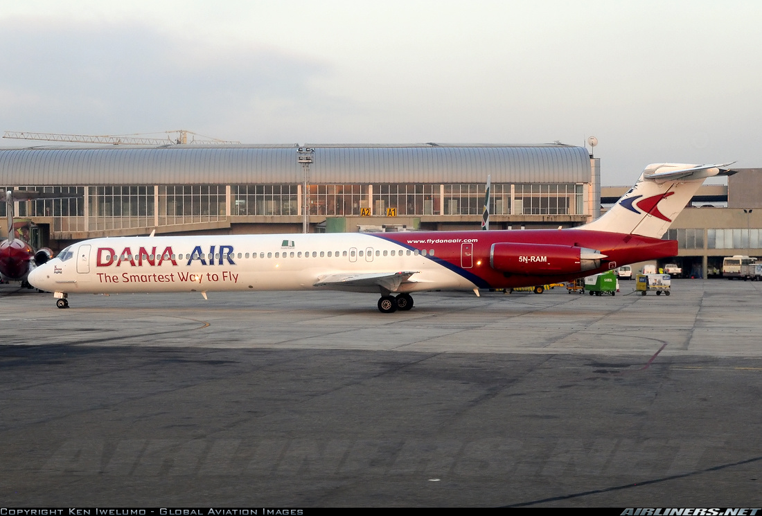 Dana Air - MD83 - 5N-RAM (copyright Ken Iwelumo)
