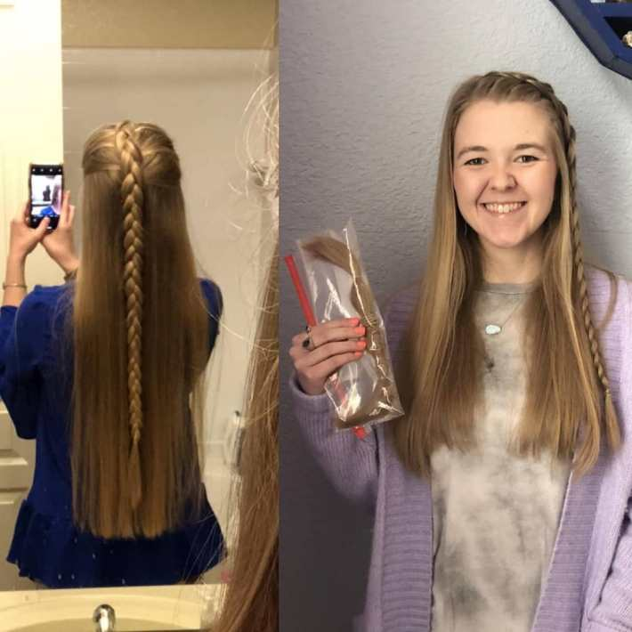 the largest hair donation in history