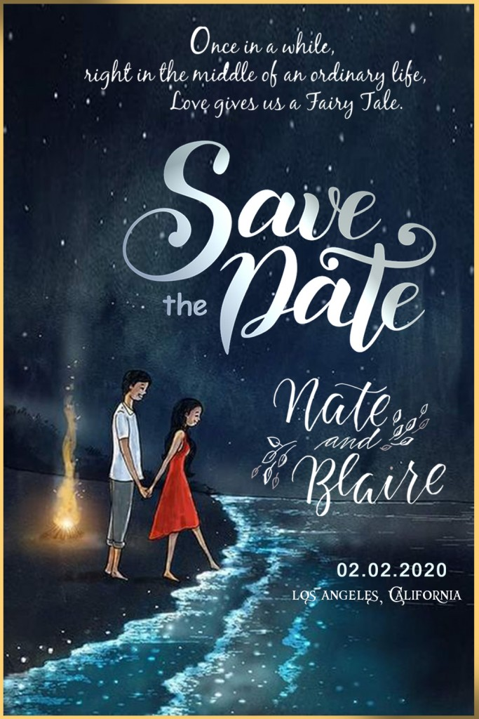 wedding save the date video maker to