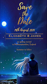 e invitation card for wedding with photo