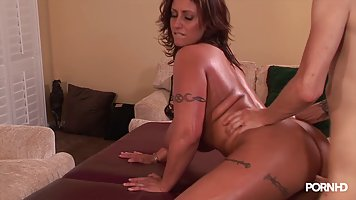 Oiled Curvy Slut With Huge Boobs Eva Is Getting A Nice Erotic Massage By Her Horny Partner Perfect Girls