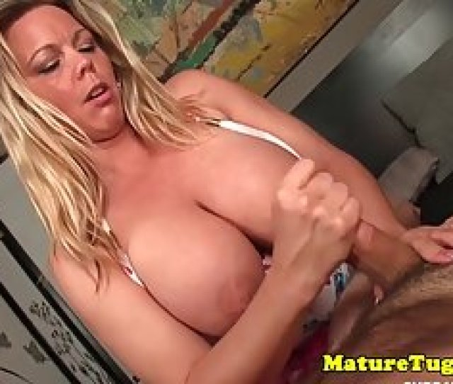 Chubby Blonde Milf With Huge Boobs Is Giving The Best Handjob Ever To Her Partner Perfect Girls