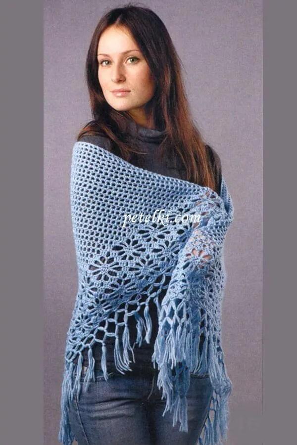 Hairpin Lace Shawl Crochet Pattern