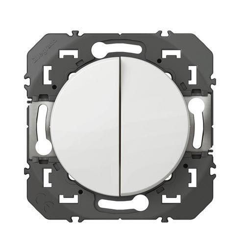 legrand dooxie double bouton poussoir blanc 600008