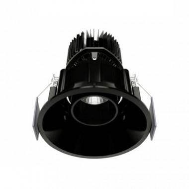beneito faure spot led encastrable et orientable tao 10w 800lm 4000 k noir