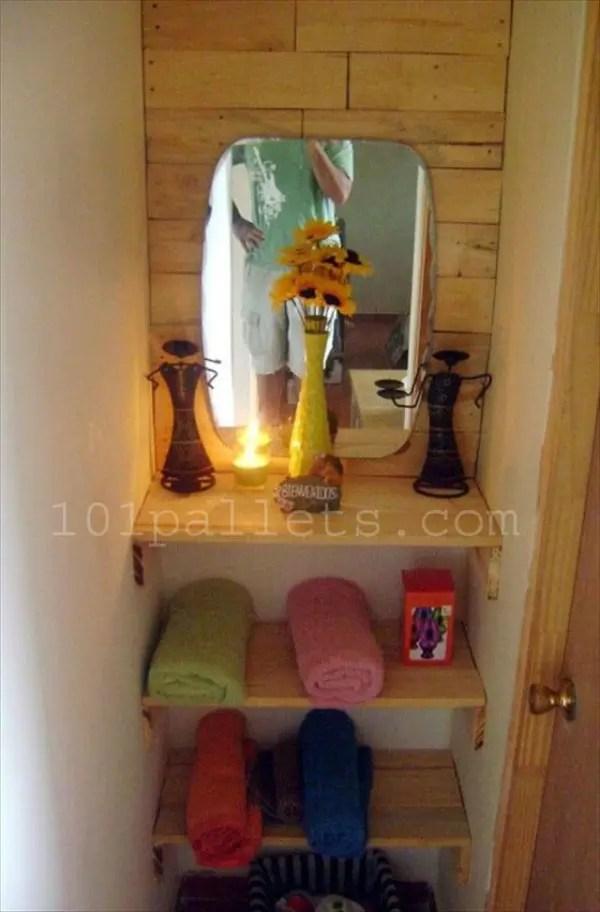 Unique Bathroom Storage With Pallets 101 Pallets