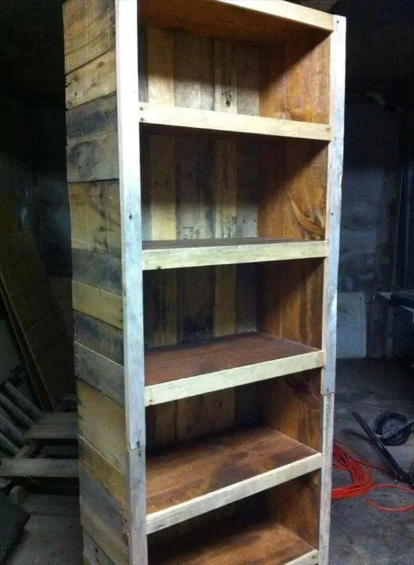 Bookshelf Made From Reclaimed Pallets 101 Pallets