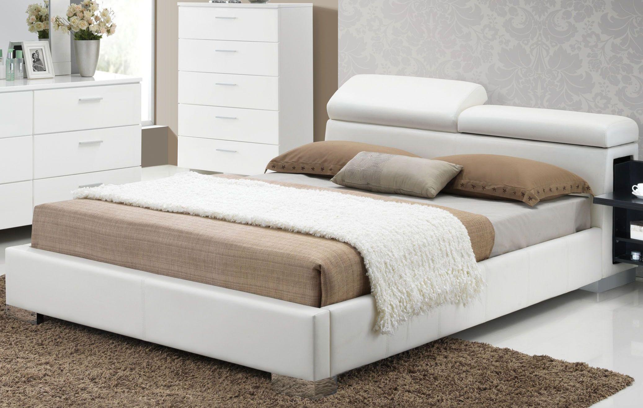 Manjot White Cal King Hidden Storage Platform Bed 1stopbedrooms