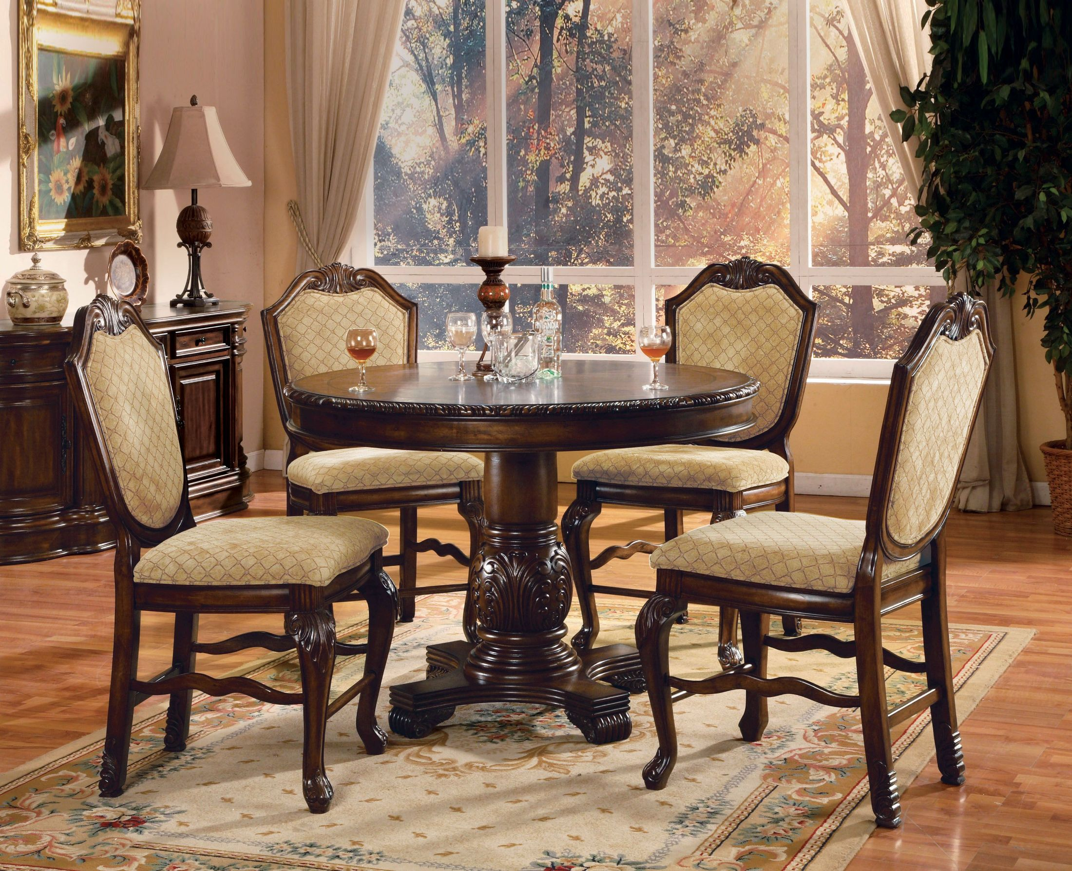 ACME Chateau De Ville Espresso Counter Height Dining Room