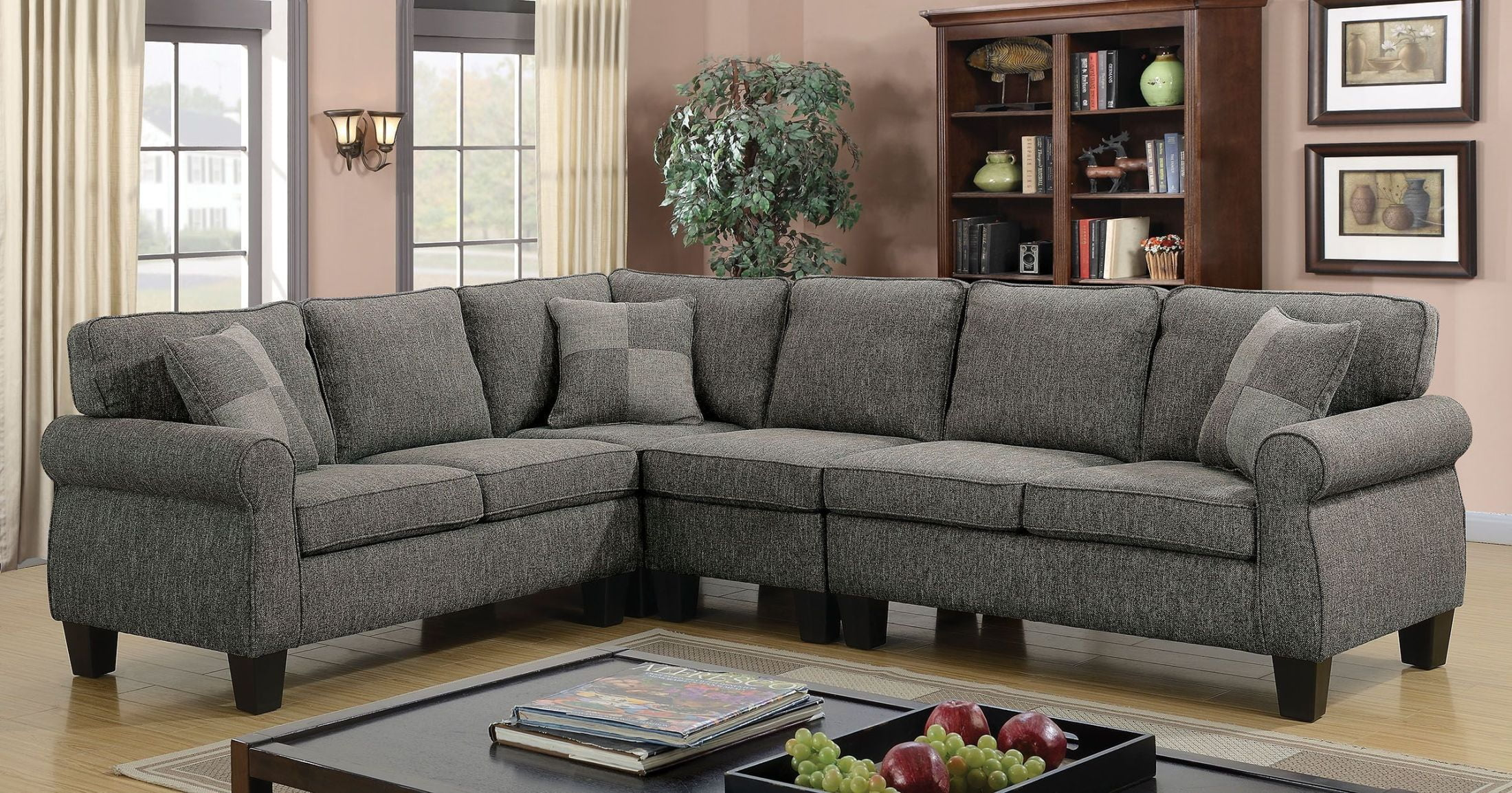 rhian dark gray sectional