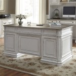 Magnolia Manor Antique White Jr Executive Home Office Set 1stopbedrooms