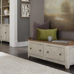 Farmhouse Reimagined Antique White Storage Hall Bench 1stopbedrooms