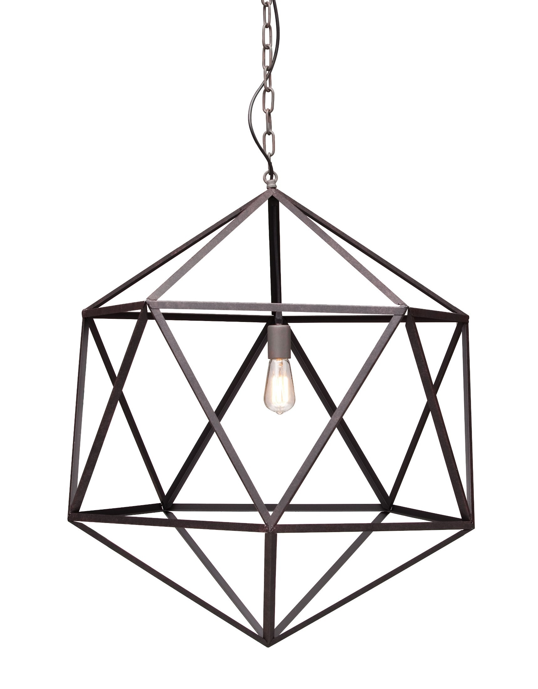 Zuo Modern Amethyst Large Rust Ceiling Lamp