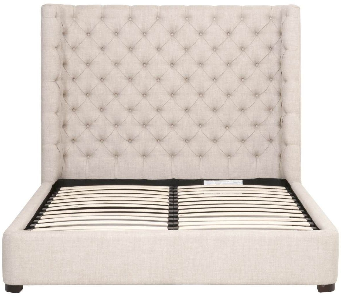 Barclay Bisque French Linen Cal King Upholstered Platform
