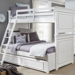 Canterbury Natural White Twin Over Full Bunk Bed With Trundle 1stopbedrooms