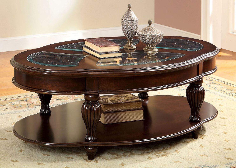 centinel dark cherry coffee table