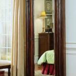 Dark Wood Jewelry Armoire Storage Floor Mirror 1stopbedrooms