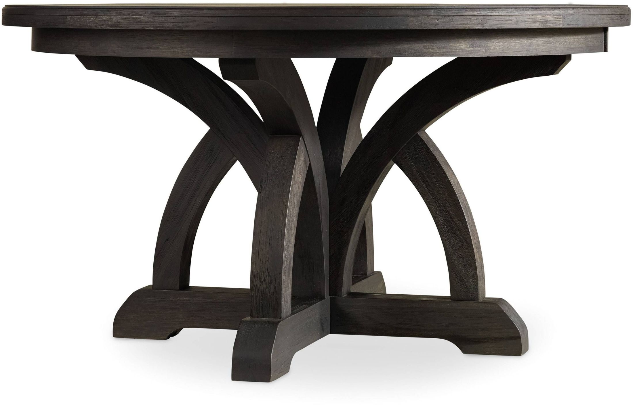 Corsica Dark Wood Round Extendable Dining Table 1stopbedrooms