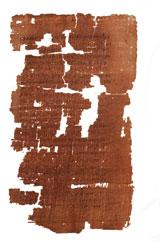 Foto del papiro cedida por National Geographic