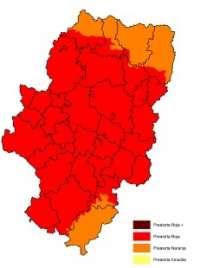 Prealerta roja por riesgo de incendios forestales en la Comunidad