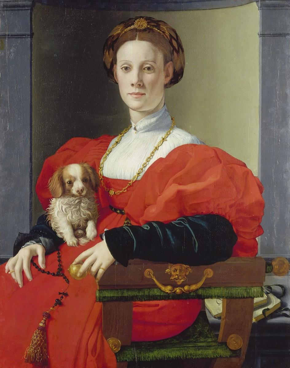 Retrato de una dama de rojo