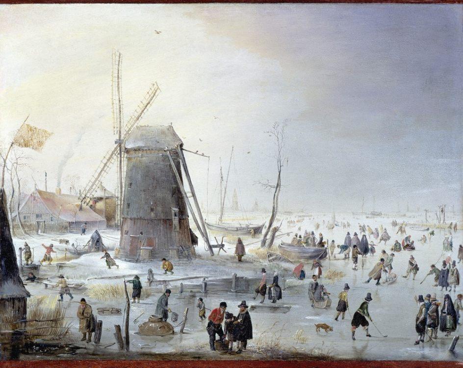 Óleo del pintor barroco holandés Hendrick Avercamp
