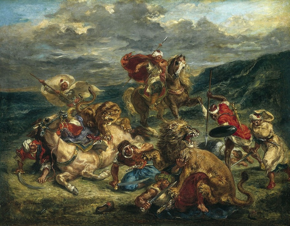 Delacroix, 'La caza del león'