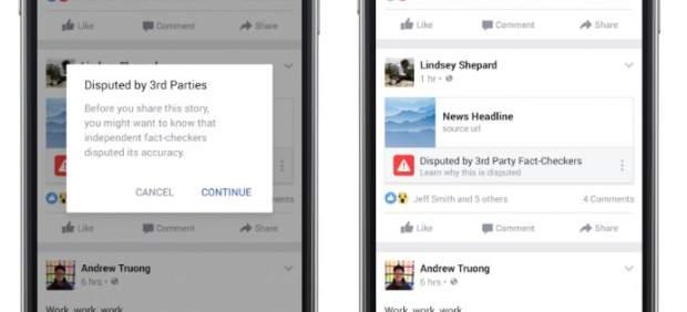 Facebook alertará sobre posibles noticias falsas