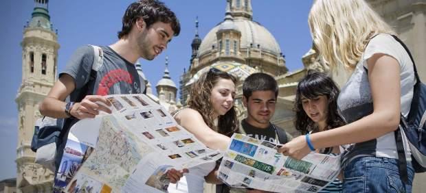 Turistas en Zaragoza