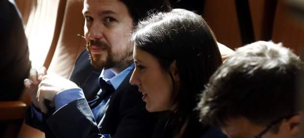 Pablo Iglesias, Irene Montero e Iñigo Errejón