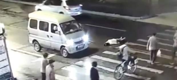 Atropello a una mujer en China