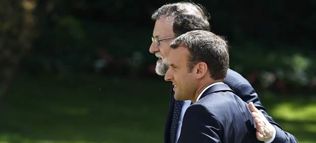 Rajoy y Macron