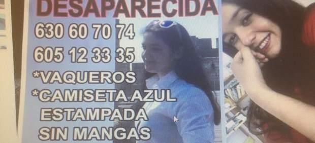 Cartel con la imagen de la menor desaparecida.