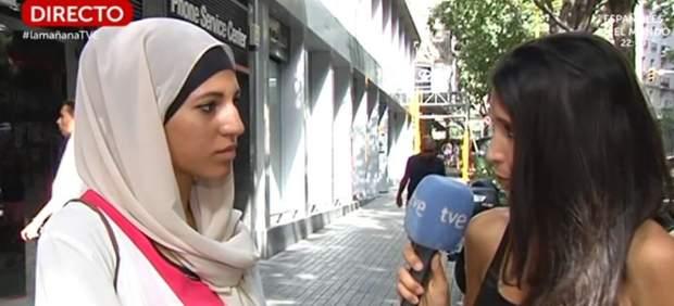 """Críticas a TVE por una entrevista a una joven musulmana: """"Nadie te está atacando"""""""