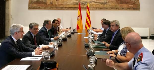 Reunión de la Junta de Seguridad de Catalunya en la Generalitat.