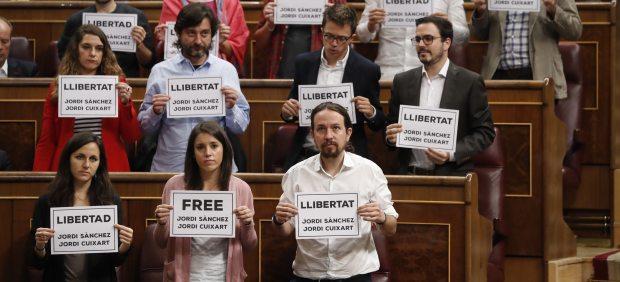 Pidiendo libertad para 'los Jordis'
