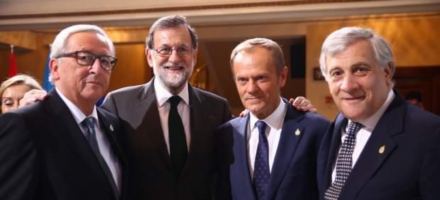 La UE arropa a Rajoy en Asturias