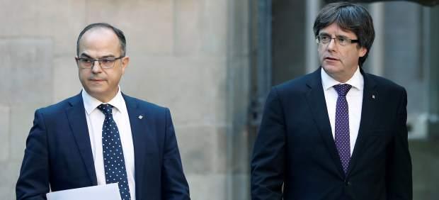 Jordi Turull y Carles Puigdemont