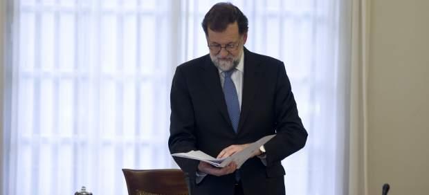 Mariano Rajoy encabeza el Consejo de Ministros extraordinario