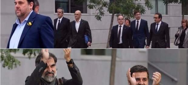 Oriol Junqueras, los exconsejeros y los Jordis.