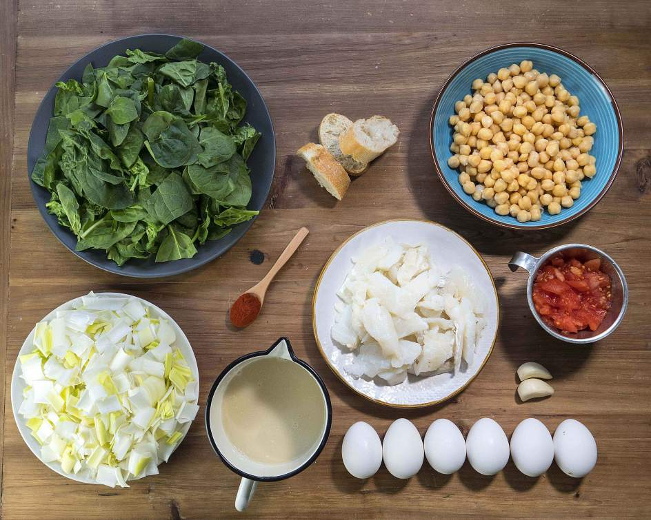 receta potaje de garbanzos