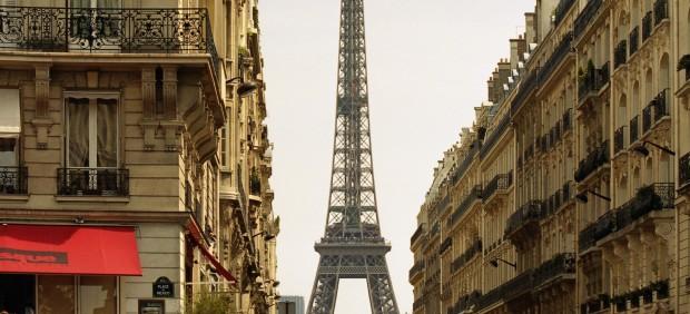 Zona residencial cerca de la Torre Eiffel, en París.