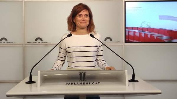 La portavoz de CatECP, Elisenda Alamany.