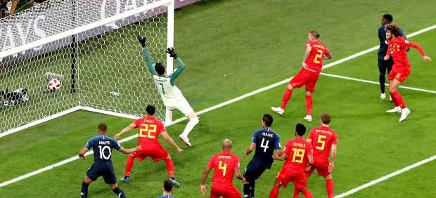Gol de Umtiti a Béltgica