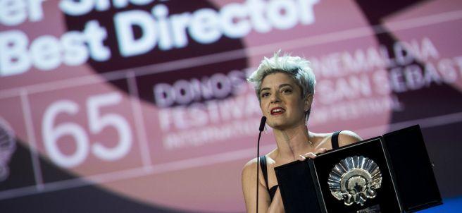 Anahí Berneri, con su Concha de Plata a la Mejor Dirección en el Festival de San Sebastián 2017.